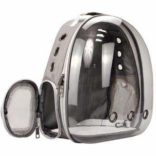 dipuer 迪普尔 猫包宠物包 灰色透明包 *