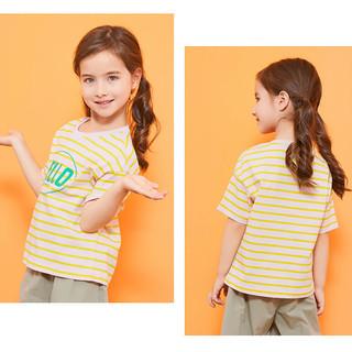 balabala 巴拉巴拉 女童夏装儿童短袖女童短袖t恤洋气t恤上衣女凉感T童装女