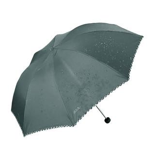 Paradise 天堂伞 天堂 307E碰击布格子布包边三折商务伞晴雨伞