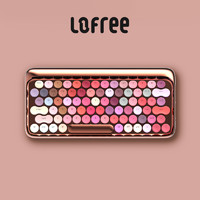 LOFREE/洛斐 玫瑰金绽放 手机电脑无线蓝牙机械茶轴口红键盘 女生专属
