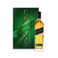 JOHNNIE WALKER 尊尼获加 洋酒 绿方 绿牌 15年 苏格兰进口威士忌750ml 洋酒礼盒
