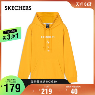 SKECHERS 斯凯奇 Skechers斯凯奇春秋新品Dia系列时尚卫衣男装套头连帽衫L420M218