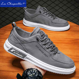 La Chapelle+夏季板鞋冰丝帆布鞋清凉透气男潮鞋子夏天男鞋百搭鞋