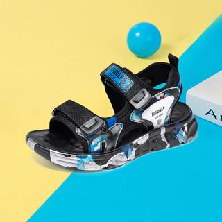 BIG WASP 大黄蜂 童鞋男童凉鞋2021夏季新款小男孩韩版露趾透气儿童沙滩鞋