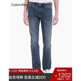 Calvin Klein 卡尔文·克莱 CK Jeans 2021春夏款男装时尚复古风再生纤维混纺牛仔长裤J317179 1A4-蓝色 32