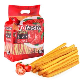 Totaste 土斯 番茄味棒棒饼干 手指头棒形早餐饼干 磨牙棒 休闲零食品大礼包 320g