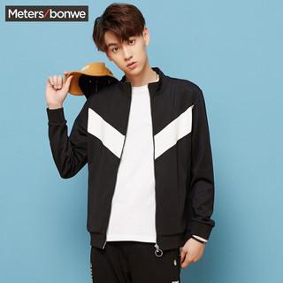 Meters bonwe 美特斯邦威 开衫卫衣男韩版春装新款潮流复古运动外套学生潮