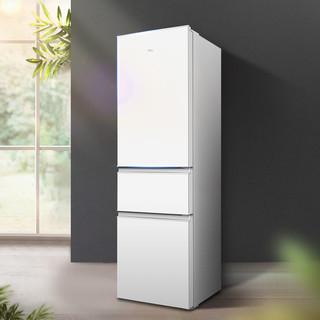 TCL 三门电冰箱家用200升小型中型租房用节能超薄三开门冷藏冷冻柜