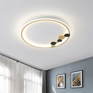 NVC Lighting 雷士照明 北欧吸顶灯主卧室灯设计师创意个性金色房间灯简约现代LED客厅灯