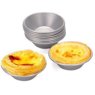 BAIJIE 拜杰 BJ)蛋挞模具铝合金烘焙工具蛋挞模子马芬蛋糕模具家用饼干菊花展烤箱用品 碗式10个