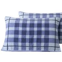 KINGSHORE 金号 2条装纯棉枕巾全棉一对情侣款舒适耐用透气毛巾料枕头巾