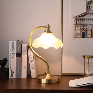 NVC Lighting 雷士照明 铜范全铜台灯客厅卧室床头灯美式田园欧式复古温馨创意时尚