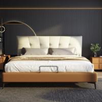 安娜·贝斯 意式真皮实木软床 1.8m