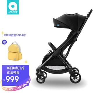 Apramo 安途美apramo婴儿推车轻便一键折叠BB伞车可坐可躺可登机儿童手推车 午夜黑