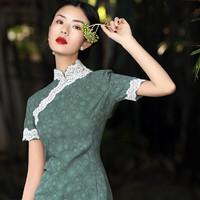 老上海旗袍改良版年轻款少女日常民国风名媛女中长款学生复古女装
