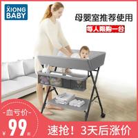 xiong baby 熊宝贝 尿布台婴儿护理台可折叠多功能床上洗澡台宝宝换尿不湿按摩抚触台
