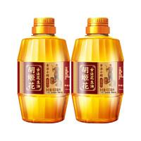 胡姬花 古法小榨花生油400ml*2瓶压榨一级特香家庭炒菜油