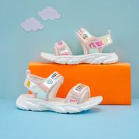 7-PE 七波辉 童鞋女童凉鞋2021新款夏季儿童韩版时尚皮凉鞋小女孩中小童鞋子