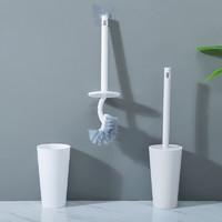 梦庭 马桶刷 带底座厕所刷套装清洁刷白色一个装 A58398