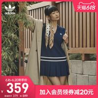 阿迪达斯官网adidas三叶草 女装夏季运动无袖连衣裙H56442 H56443 32