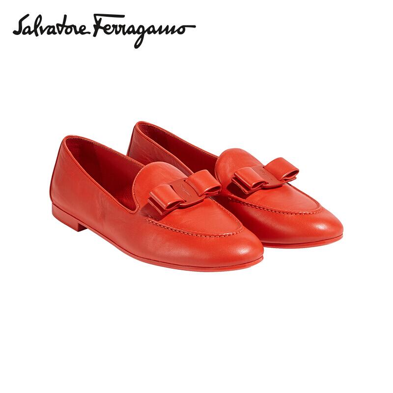 菲拉格慕(Salvatore Ferragamo)女士VARA羊皮革莫卡辛鞋0724680_1D _ 60
