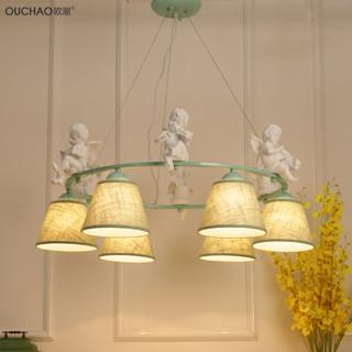 小清新田园吊灯具小鸟小天使北欧简约现代客厅卧室餐厅儿童房灯饰