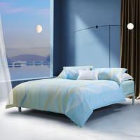MERCURY 水星家纺 床上四件套纯棉 全棉斜纹床品套件被套床单被罩 波光潋滟 加大双人1.5米床
