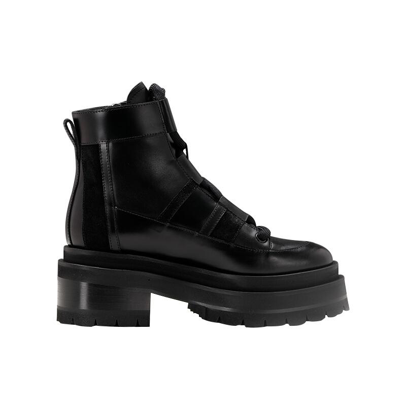 PIERRE HARDY 女士靴子 ALPHA CAMP ANKLE BOOT系列休闲风靴子 黑色 37