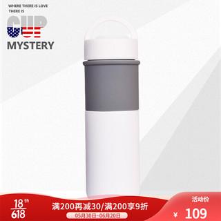 CUP MYSTERY 美国cup mystery保温杯陶瓷水杯内胆直身车载杯男士时尚美观带提手杯子办公杯 白色陶瓷杯