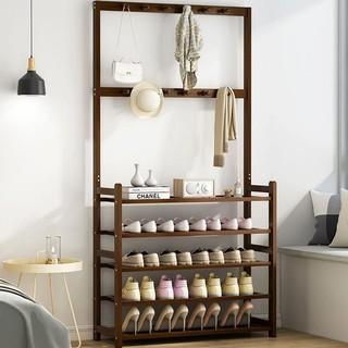 LISM 门口鞋架子简易多层鞋柜网红家用收纳架挂包架置物架