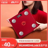 SENSSUN 香山 HUAWEI HiLink生态产品智能体脂秤体重电子秤精准充电家用体脂称