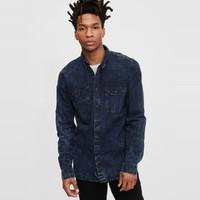 Gap 盖璞 男装复古做旧风格潮流休闲牛仔衬衫608020夏季新款
