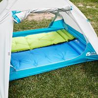 MOBI GARDEN 牧高笛 MOBIGARDEN) 户外露营单人带枕头可拼接加厚升级自动充气防潮垫 NX19663003 天蓝