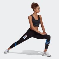 阿迪达斯官网 adidas SPACE TGH W 女装跑步运动紧身裤GK6990 黑色 M