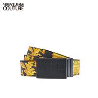 VERSACE 范思哲 Versace Jeans Couture奢侈品皮带21春夏男士腰带 可剪裁 D8YWAF32-71991 BLKPRINT-M27黑色印花 100