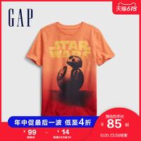 Gap男童纯棉T恤682096 2021夏季新款童装短袖