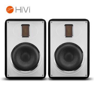 HiVi 惠威 RH6R黑色 家庭影院环绕音响 木质无源2.0HiFi高保真发烧级书架箱 家用电视音响