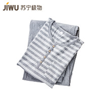 JIWU 苏宁极物 女士亲肤舒适针织棉家居服睡衣