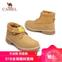 CAMEL 骆驼 工装大黄靴马丁靴真皮潮休闲鞋高帮百搭系带短靴男
