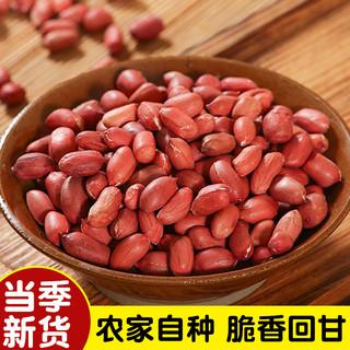 花生米生新货2斤四粒红不带壳去壳红皮生花生米花生仁