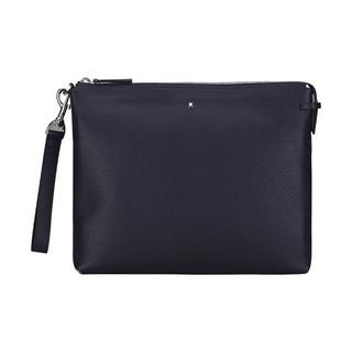 MONTBLANC 万宝龙 大班软皮粒纹系列藏蓝色手袋 124698