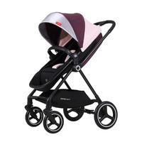 gb 好孩子 婴儿推车高景观轻便可坐可躺折叠带宽敞睡篮四轮强避震双向推行