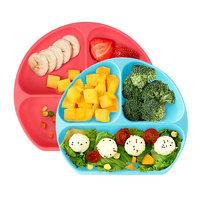 BUMKiNS Bumkins儿童硅胶分格餐盘婴幼儿吸盘式宝宝防摔辅食碗盘餐具1个