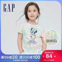 Gap女童纯棉趣味短袖T恤857062 2021夏季新款童装