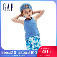 Gap男幼童宽松纯棉针织背心910616夏季2021新款童装洋气无袖上衣