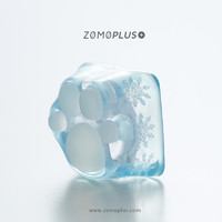 ZOMO原创设计 萌可爱 3D打印Tiffany蒂芙尼樱花树脂个性猫爪键帽 粉