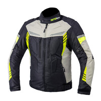 MOTOBOY 摩托车骑行服套装防摔保暖机车反光赛车夹克款四季装备 J21 灰色2XL