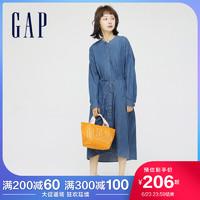 Gap女装纯棉宽松青年布连衣裙670051 2021夏季新款休闲气质中长裙