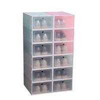 牧月 透明塑料鞋盒收纳神器鞋盒子   6只装