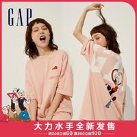Gap男女同款纯棉印花T恤752109夏季2021新款